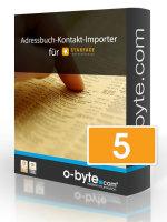 o-byte Adressbuch-Kontakt-Importer bis 5 User